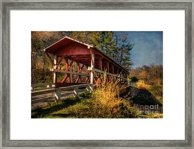 Crossing Shawnee Creek Framed Print by Lois Bryan