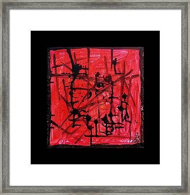 Crossing The Lines Framed Print by Mimulux patricia no