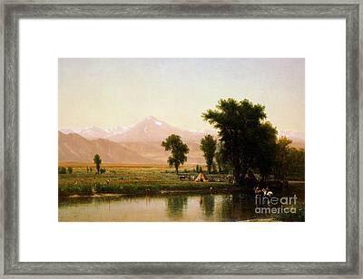 Crossing The River Platte Framed Print by Pg Reproductions