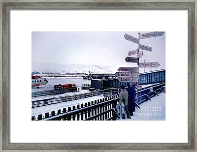 Crossroads In Iceland Framed Print by Wernher Krutein