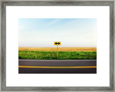 Crossroads Framed Print by Todd Klassy
