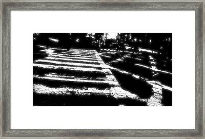 Crosswalk Contrast Framed Print by Dan Sproul