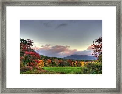 Crotched Mountain Autumn Sunset Framed Print by Joann Vitali