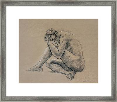 Crouched Framed Print by Sarah Parks
