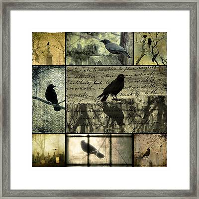 Crow Merge Framed Print by Gothicolors Donna Snyder