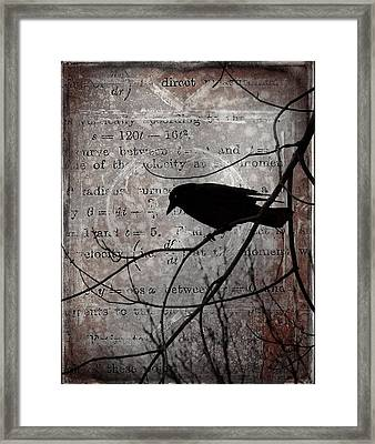 Crow Thoughts Collage Framed Print by Gothicolors Donna Snyder