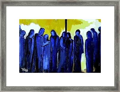 Crowd Nr.11 Framed Print by Mirko Gallery