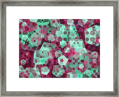 Crowd Of Pentagons Framed Print by Shawna Rowe
