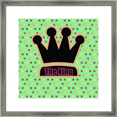 Crown In Pop Art Framed Print by Toppart Sweden