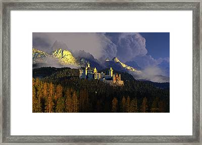 Crown Of Swans Framed Print by Dieter Carlton
