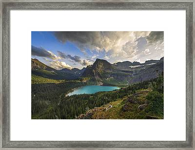 Crown Of The Continent Framed Print by Joseph Rossbach