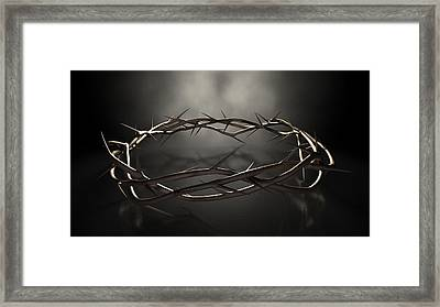 Crown Of Thorns Framed Print by Allan Swart