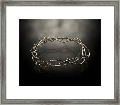 Crown Of Thorns Gold Casting Framed Print by Allan Swart