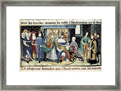 Crowning Of Charlemagne 800 Framed Print by Everett