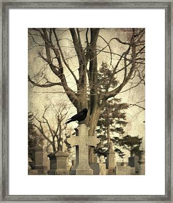 Crow's Cross Framed Print by Gothicolors Donna Snyder