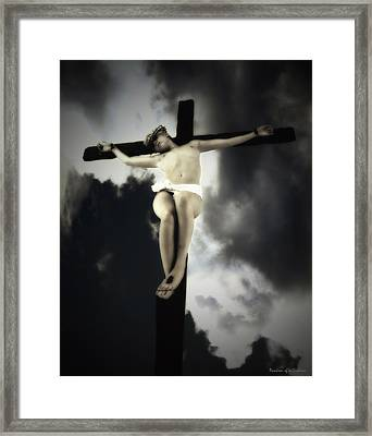 Crucified Christ Framed Print by Ramon Martinez