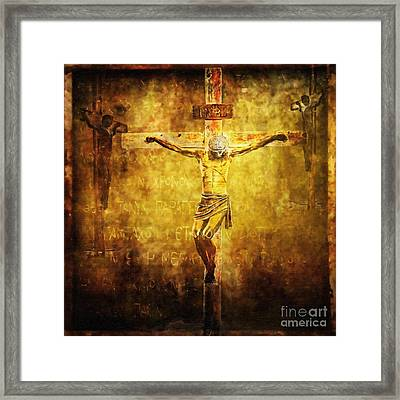 Crucified Via Dolorosa 12 Framed Print by Lianne Schneider