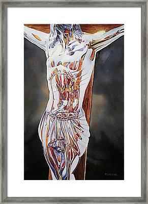 Crucifijo En Plata Framed Print by Patrick DuMouchel