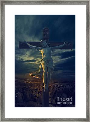 Crucifixcion Framed Print by Jelena Jovanovic