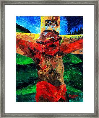 Crucifixion   It Is Finished Framed Print by Patricia Brintle