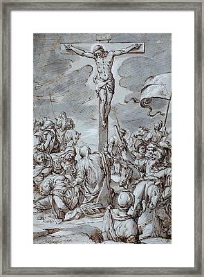 Crucifixion Framed Print by Johann or Hans von Aachen