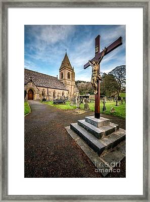 Crucifixion Of Jesus Framed Print by Adrian Evans