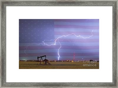Crude Oil And Natural Gas Striking Across America Framed Print by James BO  Insogna