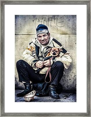 Cruel Street Life Framed Print by Stwayne Keubrick
