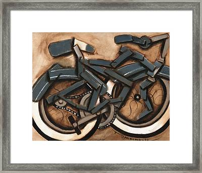 Abstract Blue Cruiser Bicycle Art Print Framed Print by Tommervik