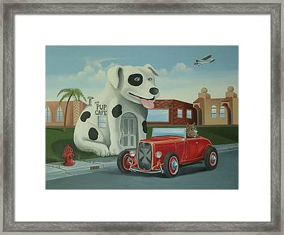 Cruisin' At The Pup Cafe Framed Print by Stuart Swartz