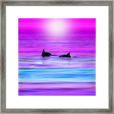 Cruisin' Together Framed Print by Holly Kempe
