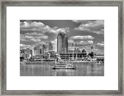 Cruising By Cincinnati 4 Bw Framed Print by Mel Steinhauer