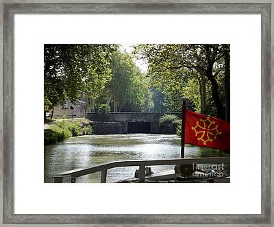 Cruising Le Canal Du Midi Framed Print by France  Art
