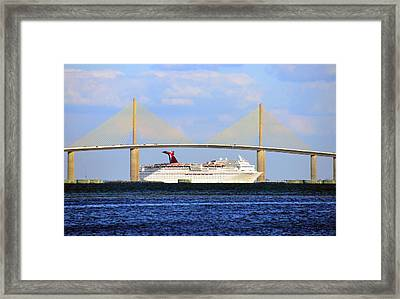 Cruising Tampa Bay Framed Print by David Lee Thompson