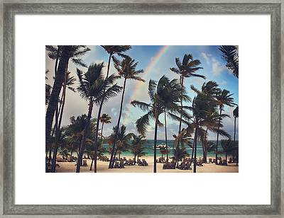 Cruising Under The Rainbow Framed Print by Laurie Search