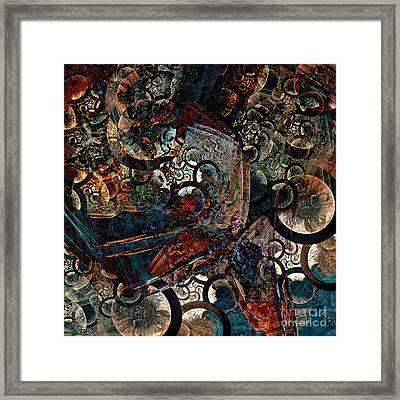 Crushed Spirals Framed Print by Klara Acel