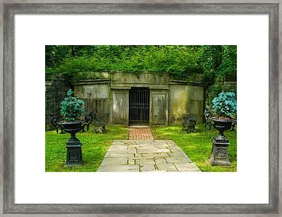Crypt Framed Print by Robert Hebert
