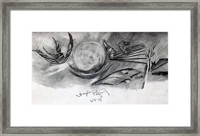 Crystal Ball Framed Print by Angela Pelfrey