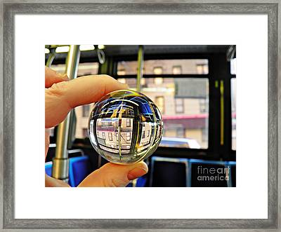 Crystal Ball Project 64 Framed Print by Sarah Loft