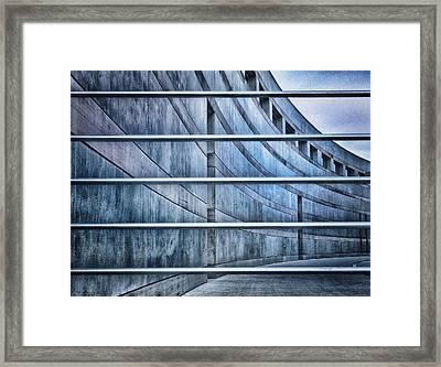Crystal Bridges Museum Greytones Framed Print by Gia Marie Houck