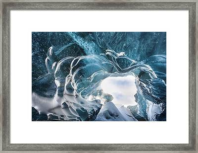 Crystal Cave Framed Print by Timm Chapman