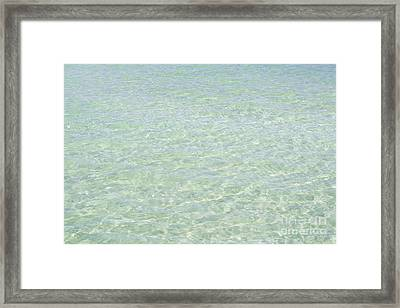 Crystal Clear Atlantic Ocean 2 Key West Framed Print by Ian Monk