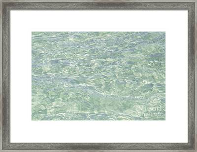 Crystal Clear Atlantic Ocean Key West Framed Print by Ian Monk