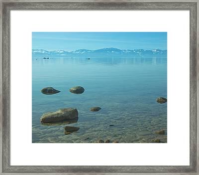 Crystal Clear Lake Tahoe Framed Print by Kim Hojnacki