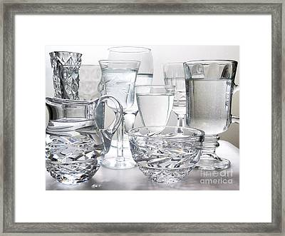 Crystal Clear Framed Print by Music of the Heart