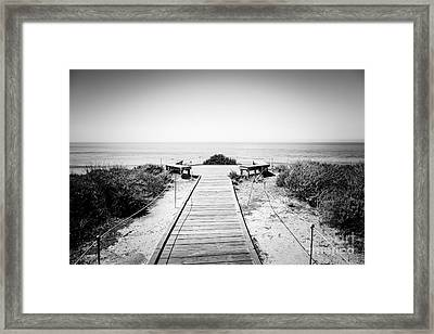 Crystal Cove Overlook Black And White Picture Framed Print by Paul Velgos