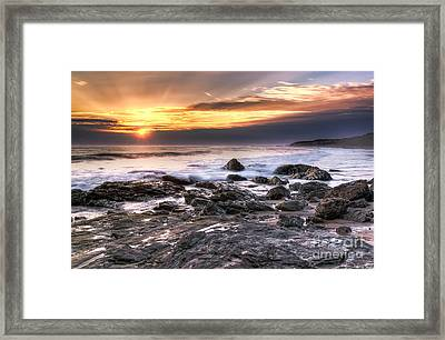 Crystal Cove State Park Framed Print by Eddie Yerkish