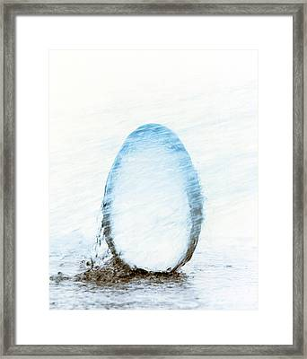 Crystal Egg Under Water Framed Print by Panoramic Images