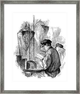 Crystal Glass Engraving Framed Print by Science Photo Library
