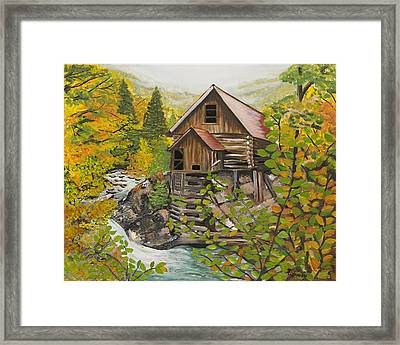 Crystal Hide Away Framed Print by Janis  Cornish